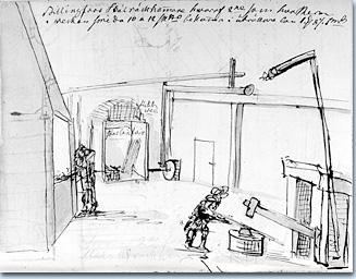 Skizze aus dem Eisenwerk Billingsfors