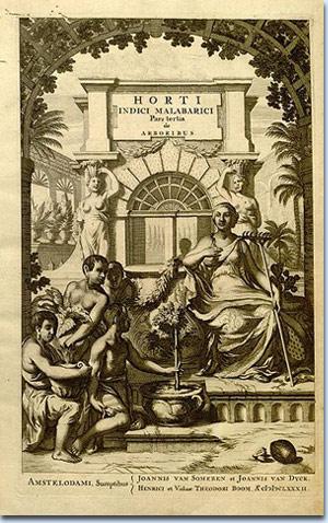 Titelblatt des Werkes Hortus Malabaricus.