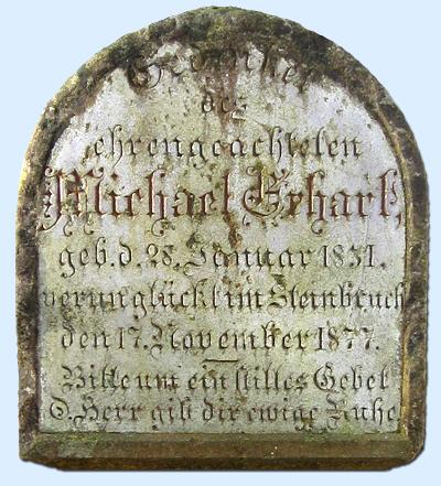Gedenkstein in Unterammergau