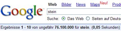Google Stein Suche