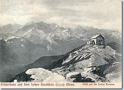 Das Statzerhaus auf dem Gipfel des Hundstein