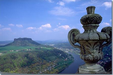 Lilienstein von der Festung Königstein