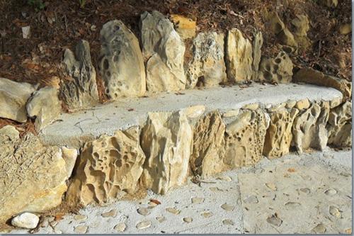 Steinbank auf Rab