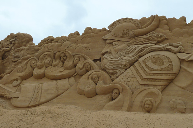 Sandskulpturen Søndervig 2014