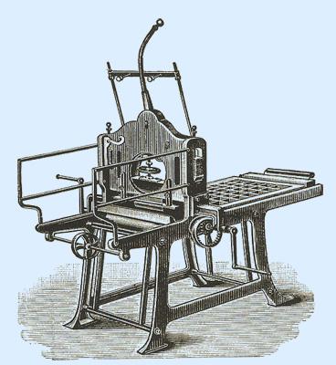 Lithografie-Kniehebelpresse