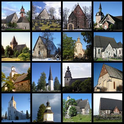 Mittelalterliche Steinkirchen in Finnland