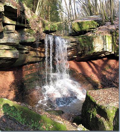 Tretstein-Wasserfall