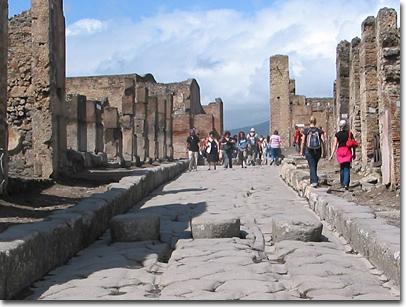 Trittstein in Pompeji