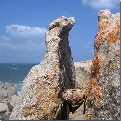 An der Küste zwischen Vignola Mare und Monte Russu.