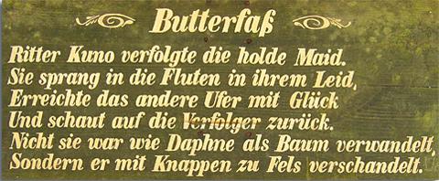 Butterfass im Waldnaabtal