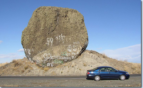 Yeager Rock im Douglas County, US-Bundesstaat Washington